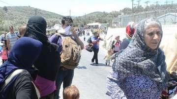 Мигрантският лагер на остров Лесбос е препълнен