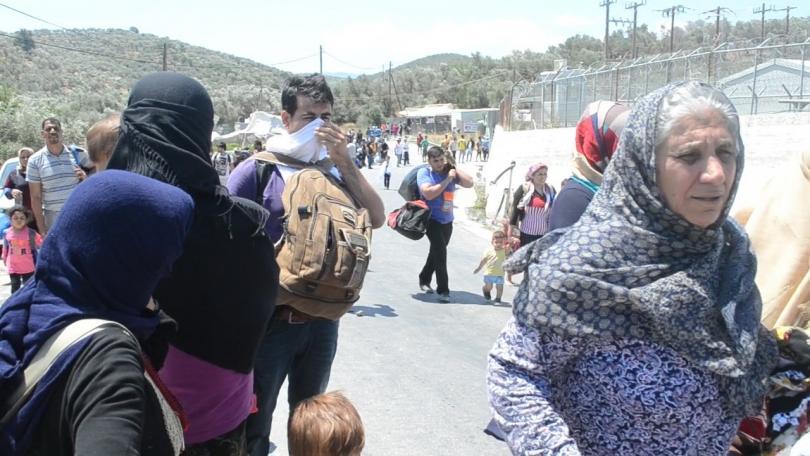 мигрантският лагер остров лесбос препълнен