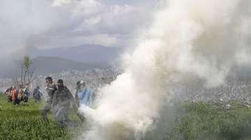 Гръцко-македонската граница заприлича на бойно поле