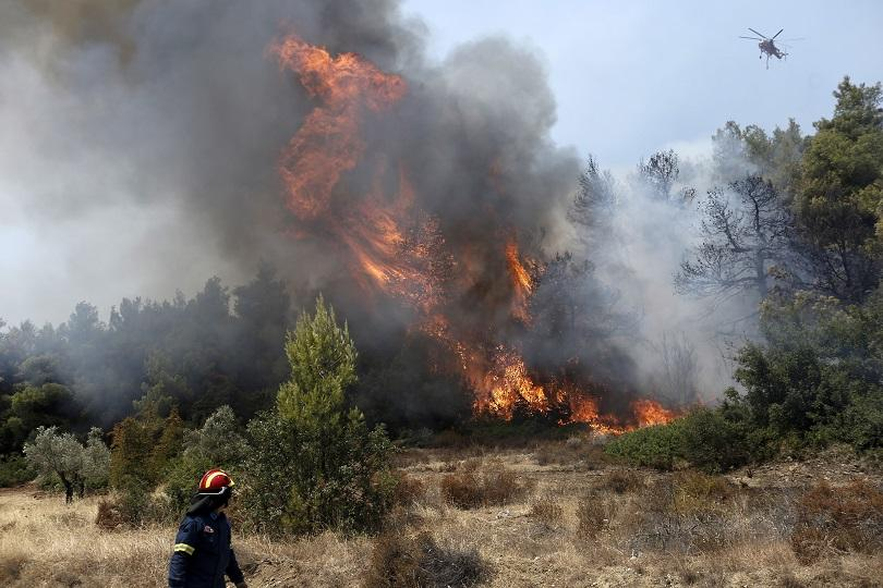 Евакуираха туристи заради пожар на гръцкия остров Кефалония