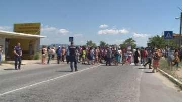 Протест блокира пътя към Гърция