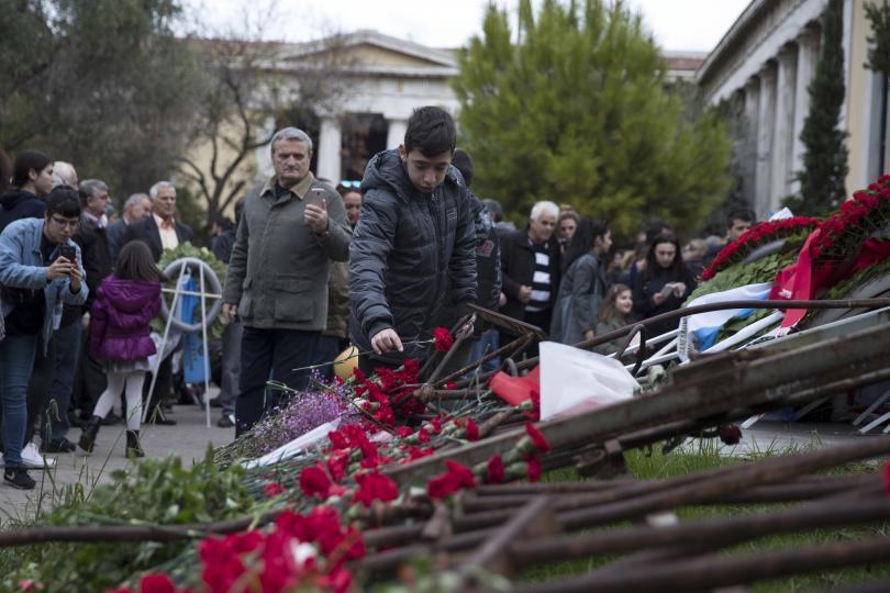 снимка 1 Гърция отбеляза 45-ата годишнина от студентските бунтове срещу военната хунта