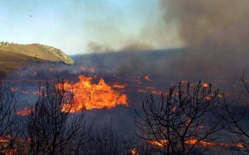 Два горски пожара бушуват на гръцкия остров Закинтос