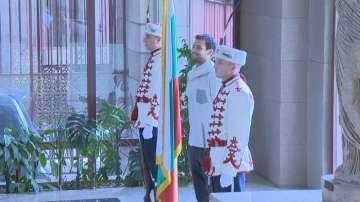 Григор Димитров на среща при президента Радев