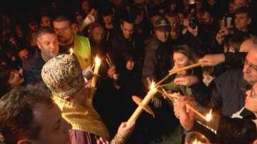 Митрополит Григорий отслужи литургия на открито във Велико Търново за Великден