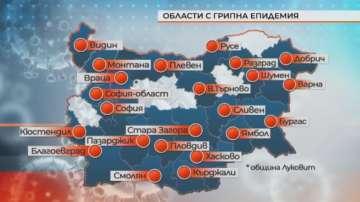В 23 области в България е обявена грипна епидемия, пикът ще е следващата седмица