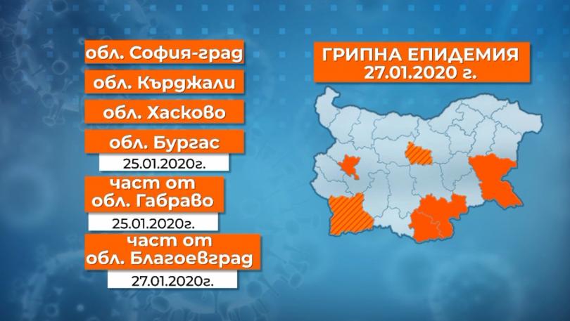 Грипната епидемия обхваща нови райони на страната. От днес област