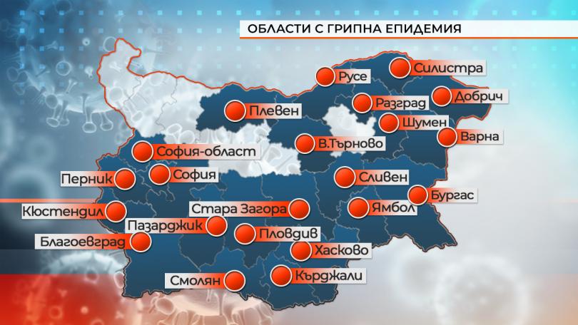 снимка 1 В капана на грипа: Повече от половин България е в епидемия