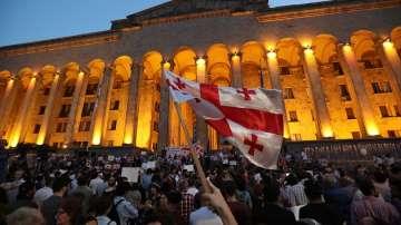 Шести ден на протести в Грузия