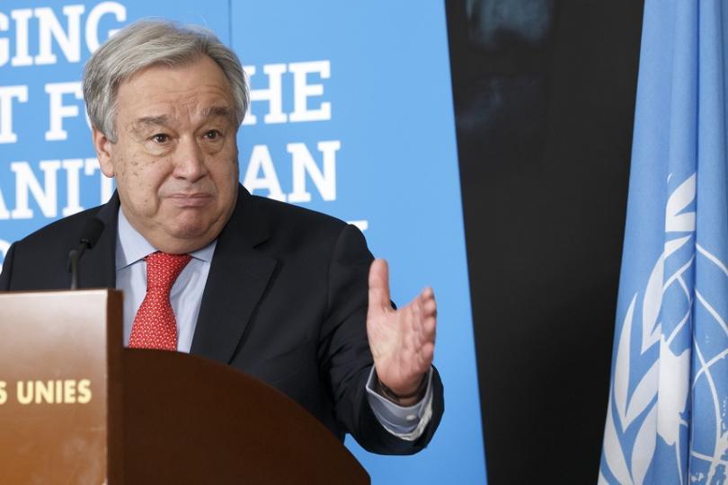 """Генералният секретар на ООН Антонио Гутериш е """"категоричен, че статутът"""