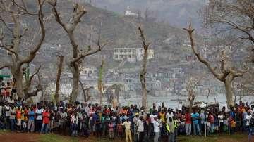Генералният секретар на ООН Бан Ки Мун пристига на посещение в Хаити