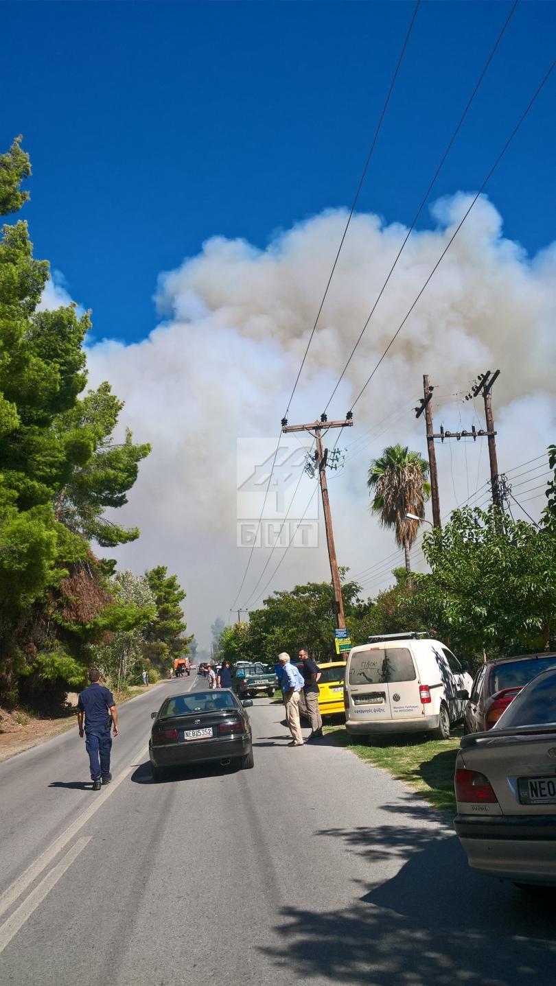 снимка 1 Овладян е пожарът  на полуостров Халкидики (ВИДЕО / СНИМКИ)