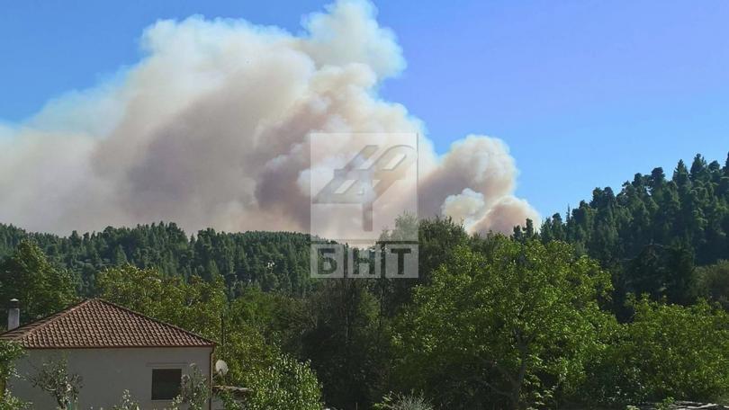 снимка 2 Овладян е пожарът  на полуостров Халкидики (ВИДЕО / СНИМКИ)