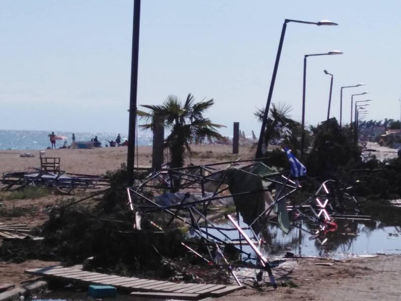 Бедствено положение на Халкидики заради силния дъжд и ураганния вятър.