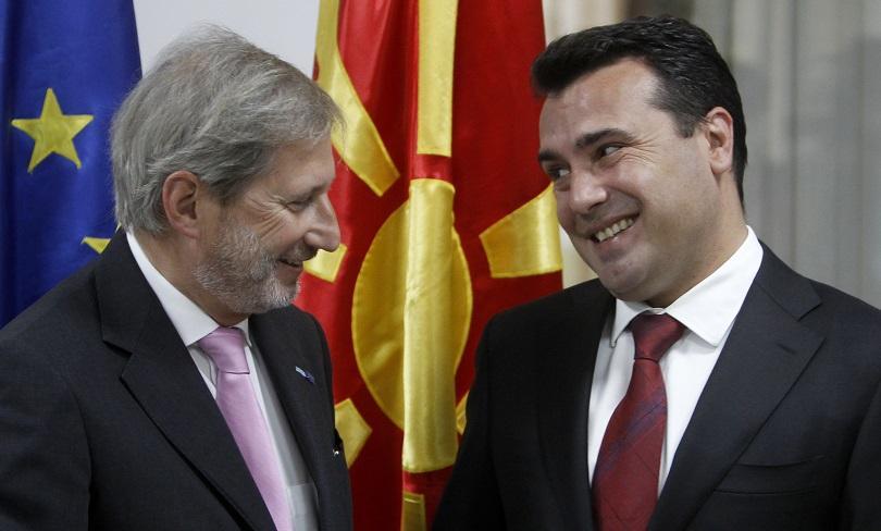 Еврокомисарят по разширяването Йоханес Хан призова македонците да подкрепят споразумението