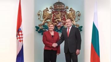 Румен Радев се срещна с хърватския президент Колинда Грабар-Китарович