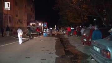 Пожар в жилищен блок в Димитровград, пострадали няма (ВИДЕО)