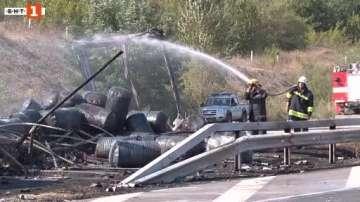 Ограничиха движението към ГКПП Капитан Андреево заради горящ ТИР