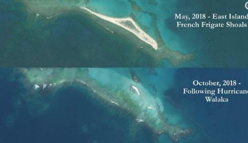 Изчезна един от Хавайските острови, потопен от ураган