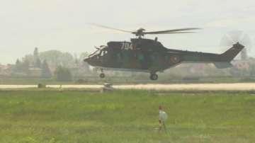 Военни самолети в небето над София за военния парад на Гергьовден