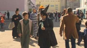 Хелоуин на снимачната площадка в Бояна