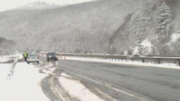 Заледяване по пътищата предизвика катастрофи