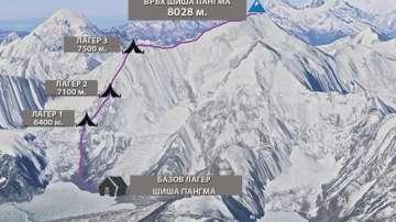 Трима шерпи издирват Боян Петров на връх Шиша Пангма