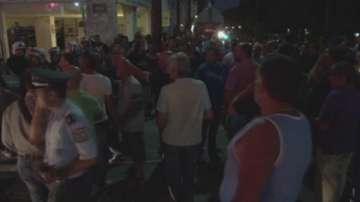 Демонстрация срещу бежанци на остров Хиос