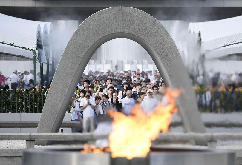 Полицията в Хирошима издирва кой е авторът на трите графита,