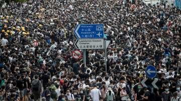 Протест в Хонгконг срещу възможността за екстрадиране на хора в Китай