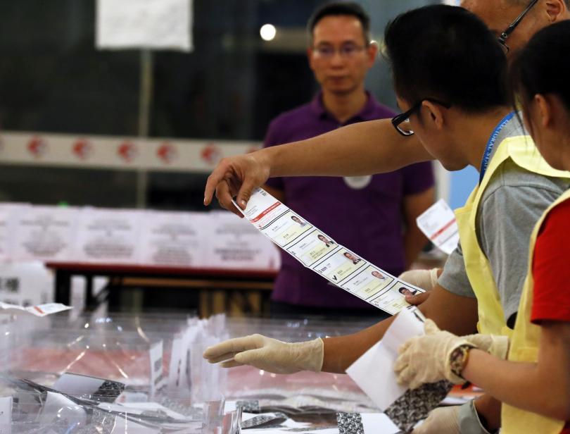 Убедителна победа на опозицията на изборите в Хонконг