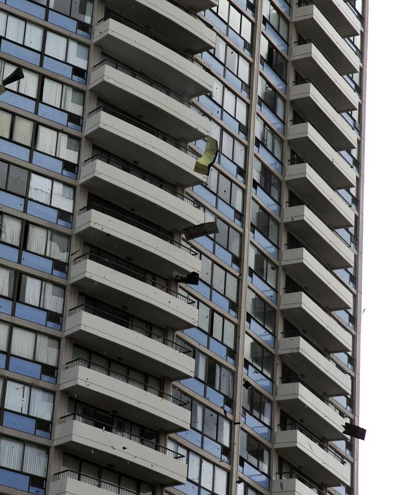 снимка 1 Пожар в небостъргач в Хонолулу
