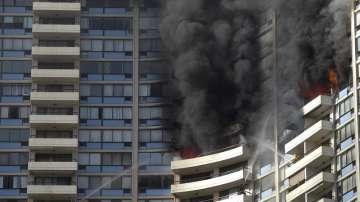 Пожар в небостъргач в Хонолулу
