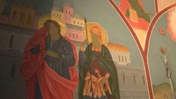 Продължава изографисването на катедралния храм Света Троица в Банско