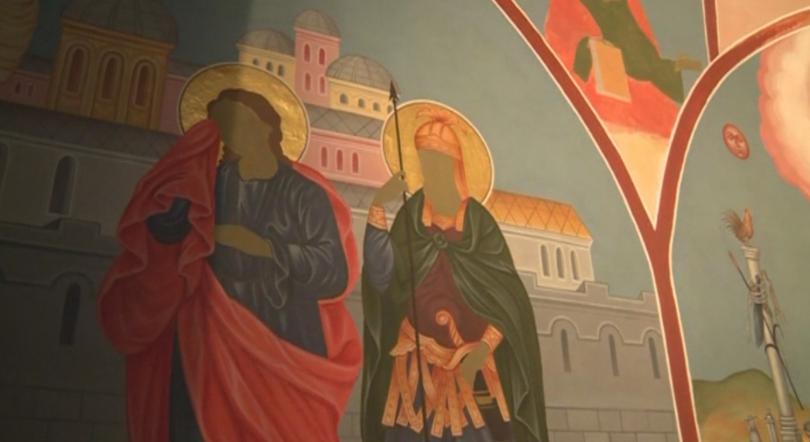 Продължава изографисването на катедралния храм