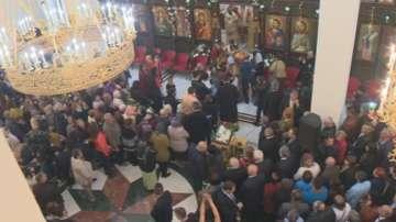 Патриарх Неофит отслужи света литургия в новия храм Св. св. Кирил и Методий