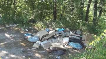 Изхвърлени храни с изтекъл срок на годност гният на пътя край Сливен