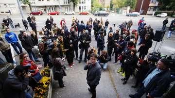 Протести срещу закриването на унгарския ляв вестник Непсабадшаг