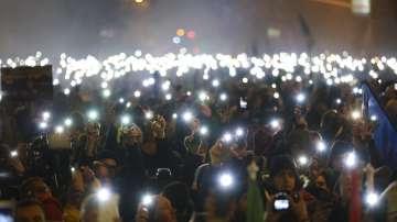 Хиляди демонстранти излязоха на протест в Унгария