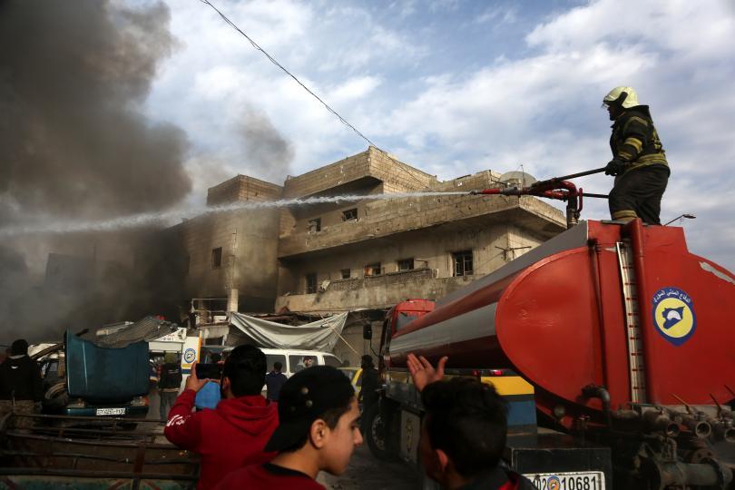 Руски въздушни удари убиха най-малко четирима цивилни в Идлиб, зона