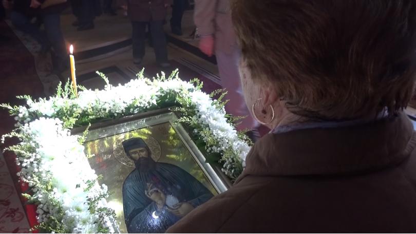 снимка 1 Чудотворната икона с мощите на св. Ефрем Нови идва в Севлиево