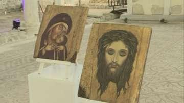 Представиха уникална изложба на икони, рисувани върху кожа