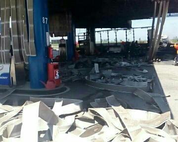 снимка 1 Взрив в бензиностанция на магистрала Тракия