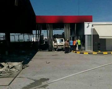 снимка 2 Взрив в бензиностанция на магистрала Тракия