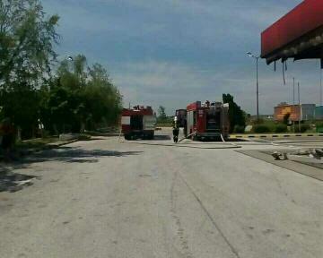 снимка 4 Взрив в бензиностанция на магистрала Тракия