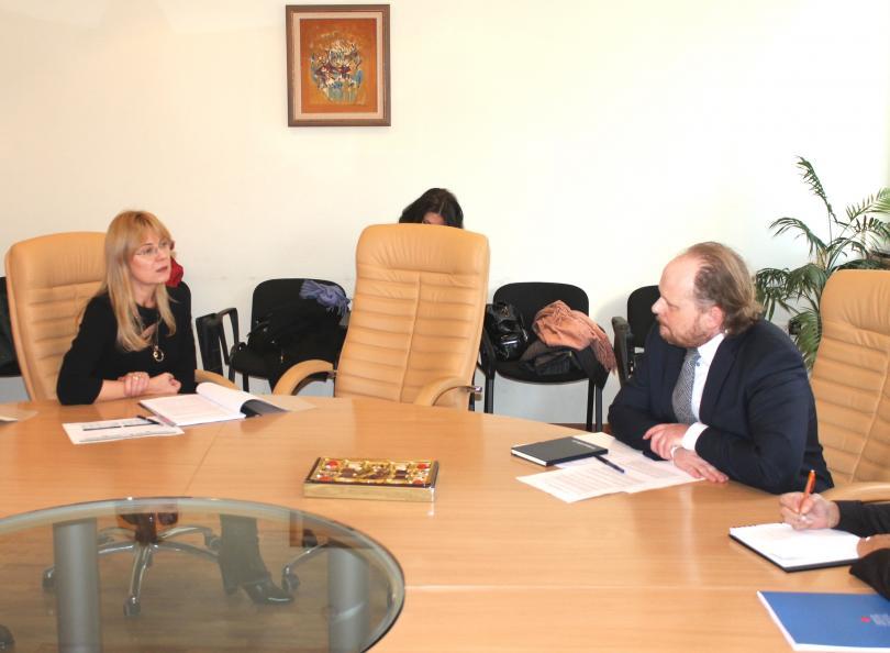 Заместник-министърът на икономиката Лилия Иванова проведе среща с Н.Пр. Кевин