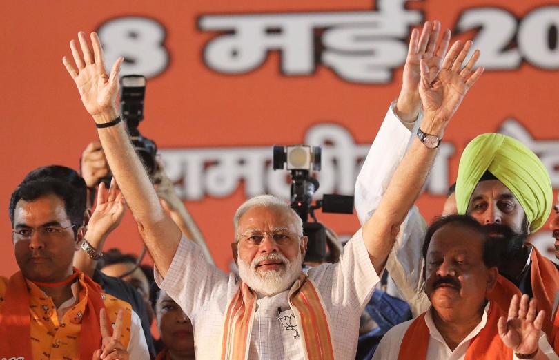 Управляващите в Индия хиндуистки националисти обявиха победа на парламентарните избори.