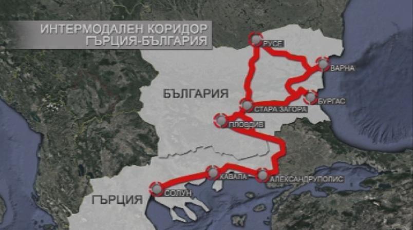Резултат с изображение за транспортния коридор Солун - Кавала – Русе
