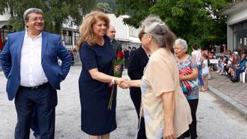 Илияна Йотова бе гост на Националния тракийски събор в село Славейно
