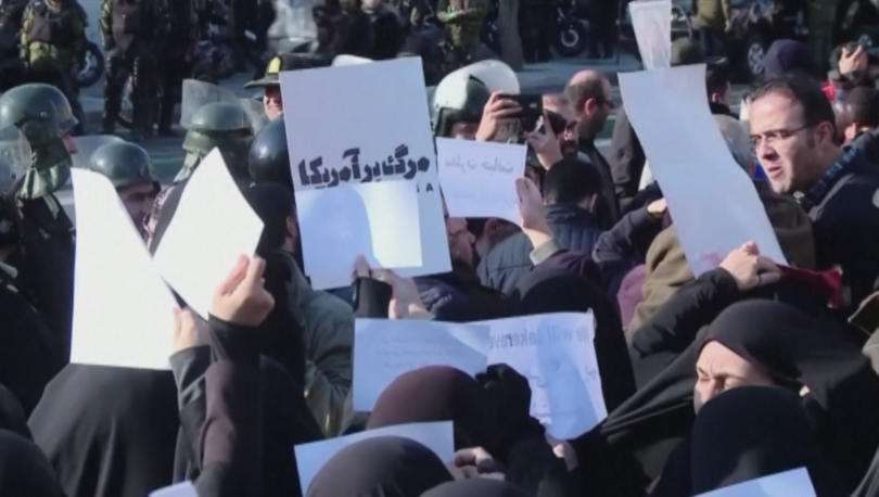 Протести в Техеран заради сваления самолет